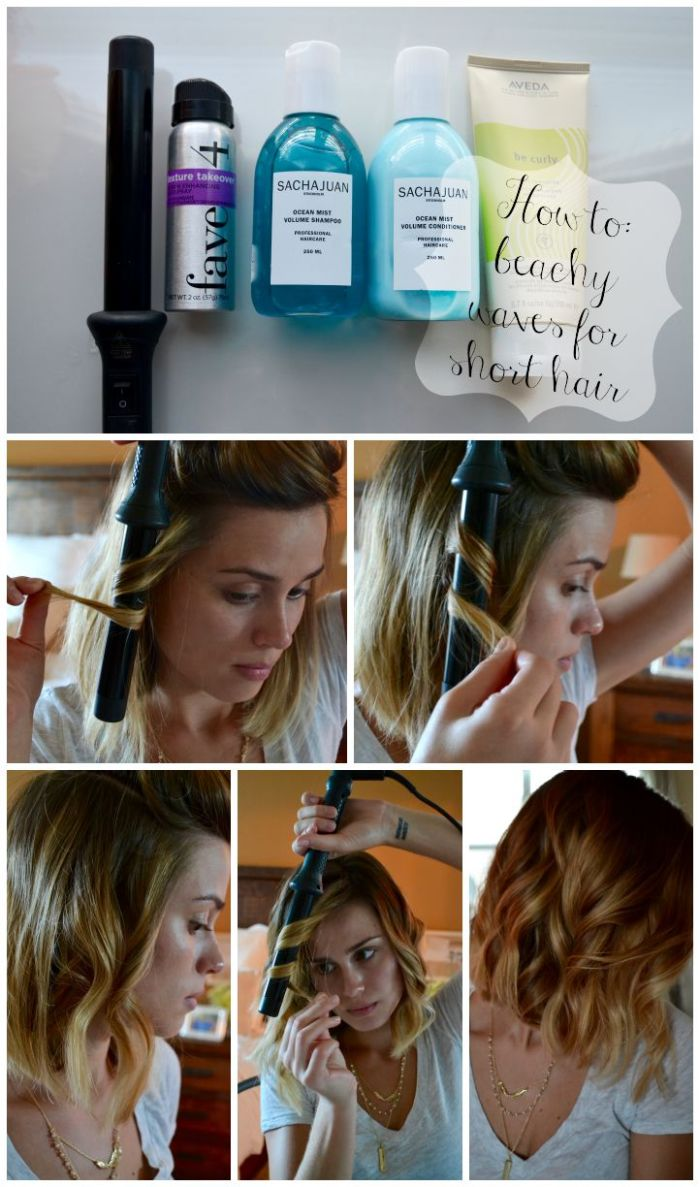 How to: Beachy Waves for Short Hair