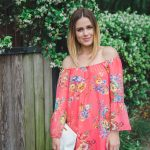Fun, Flirty off the shoulder Floral dress