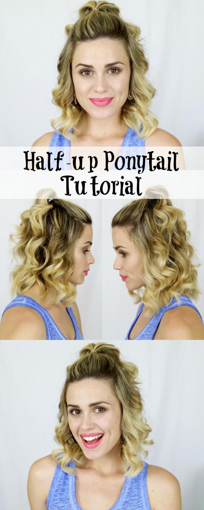 halfup ponytail tutorial