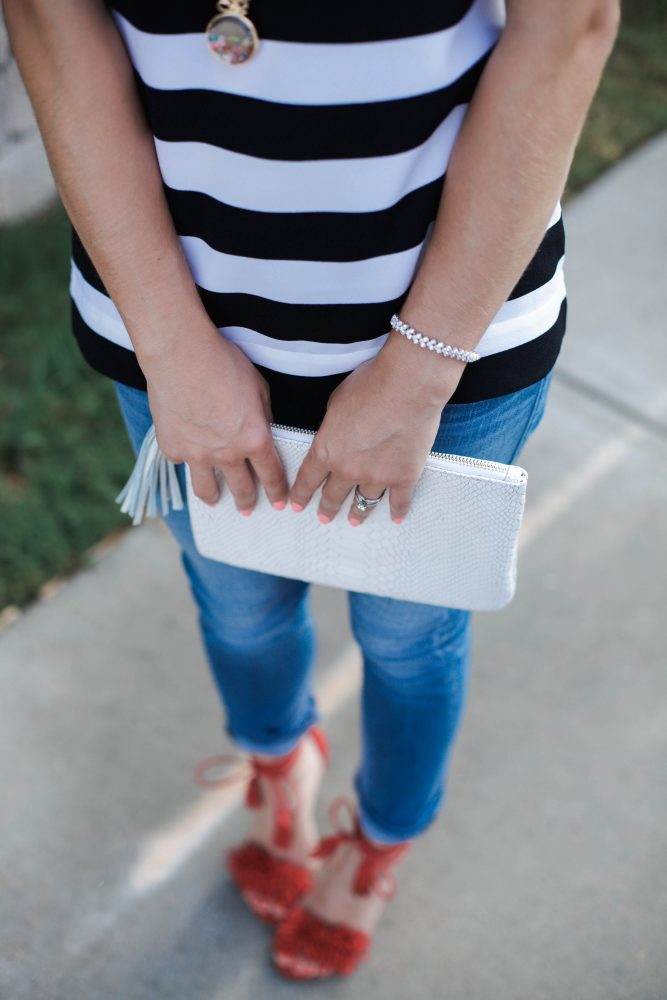 Summer Stripes | Casual Summer look | How to add glam to a causal look | PAIRIE jewelry