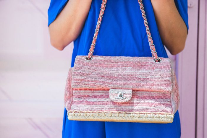 Pink and blue   Summer look   Summer Chic   Off the shoulder Dress   Uptown with Elly Brown