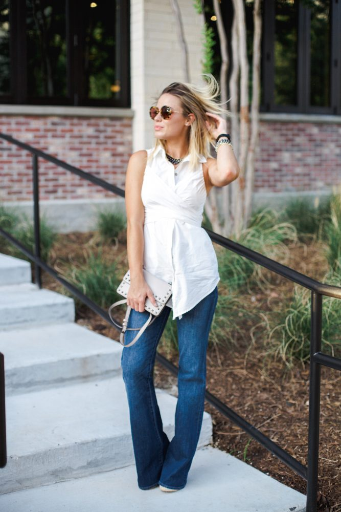 Trouser Jeans look   Flare Denim outfit   Uptown with Elly Brown