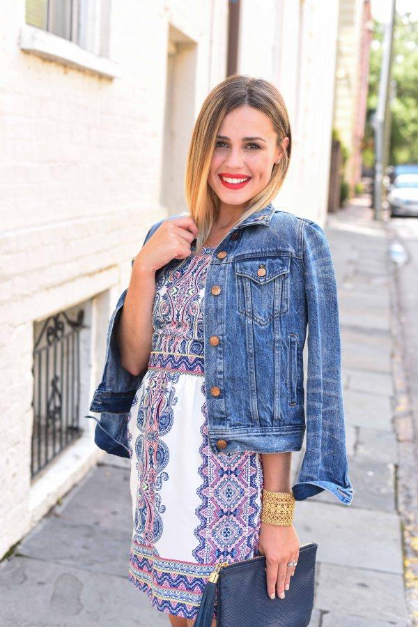 Summer Dress with Denim Jacket | Summer Dress | Uptown with Elly Brown