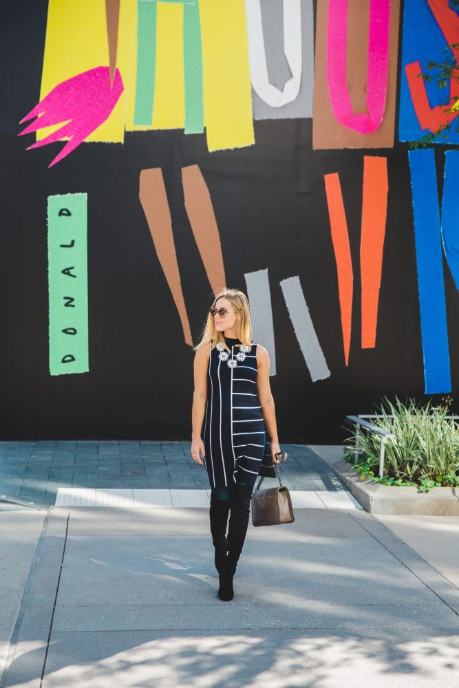 Over the Knee boots | Fall outfit | How to wear tunic | Uptown with Elly Brown