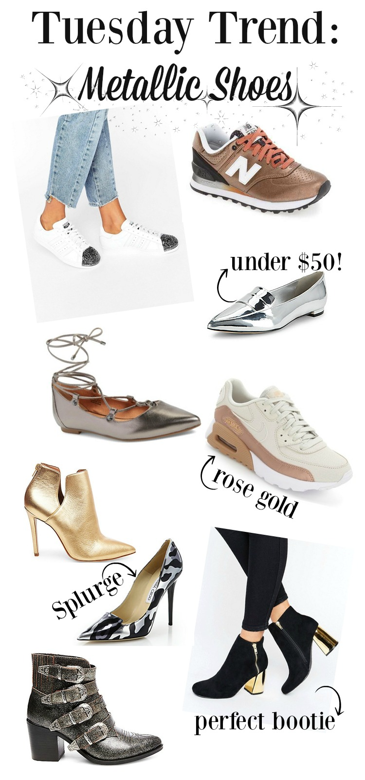 Fall 2016 hottest trend: Metallic Shoes