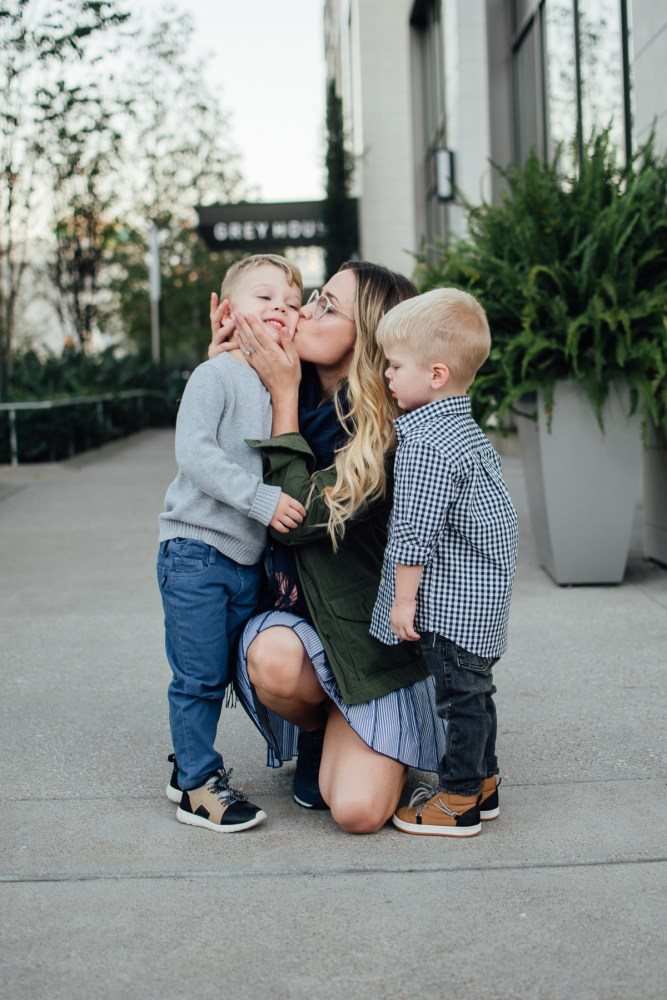 Raising your kids to love | Mommy and me fall look with Vineyard Vines | Uptown with Elly Brown