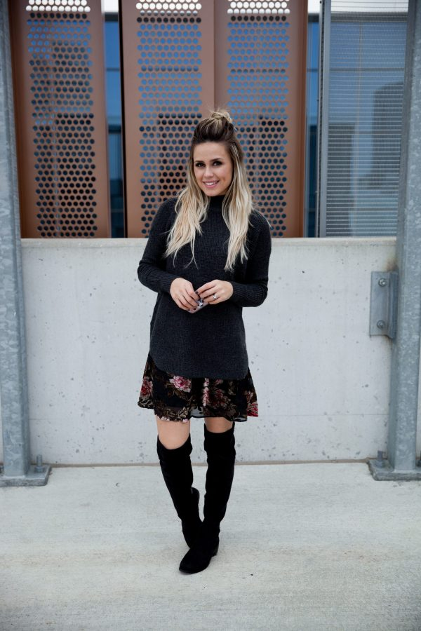 How to wear velvet | Over the knee boots outfit | Layer outfit | Uptown with Elly Brown