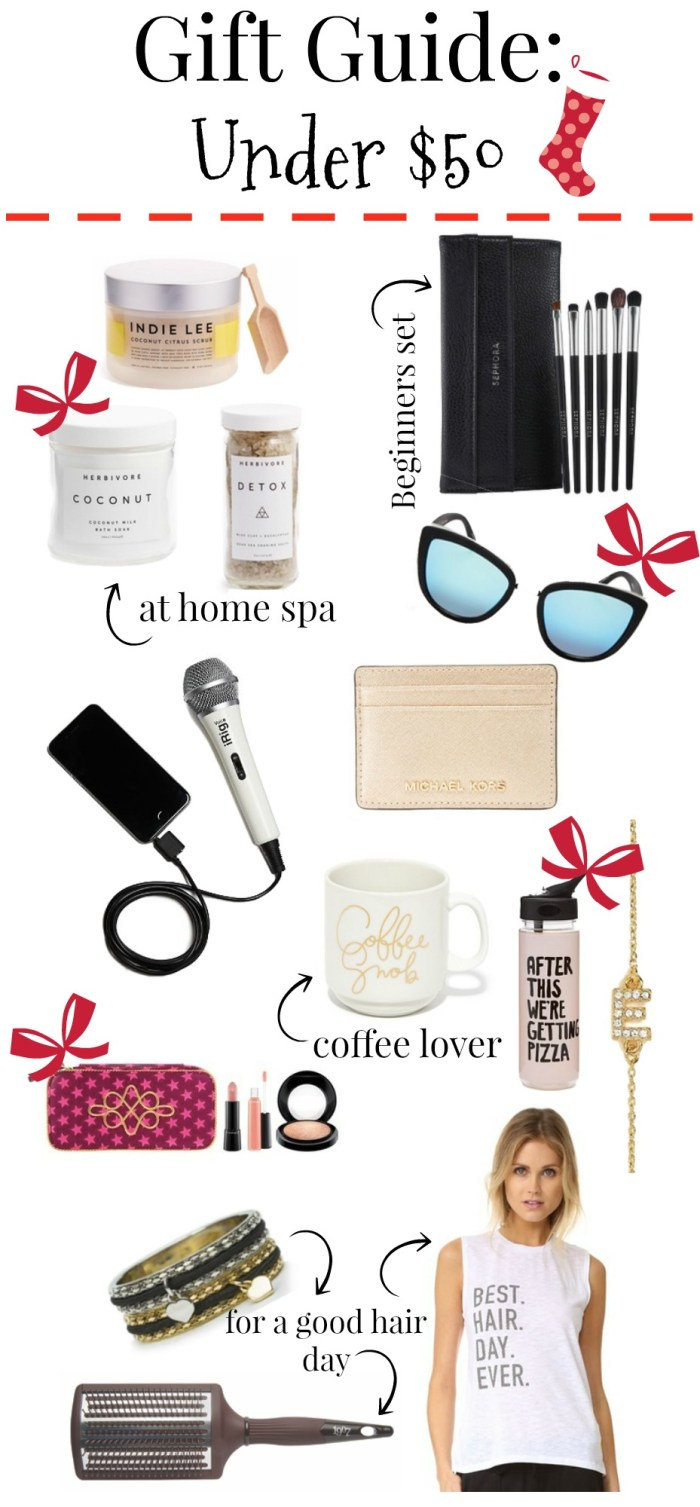 Holiday gift guide under $50 | Gift ideas under $50 | Gift Ideas for her | Uptown with Elly Brown