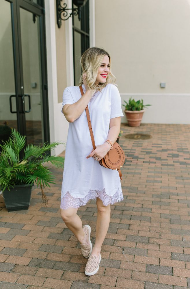 Maternity Style | Sneakers outfit with Zappos | How to wear sneakers with a dress | Spring outfits | Uptown with Elly Brown
