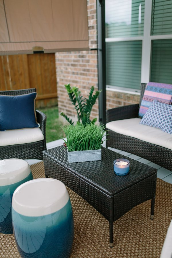 Patio Makeover   Budget friendly patio decor   Patio decor   Uptown with Elly Brown