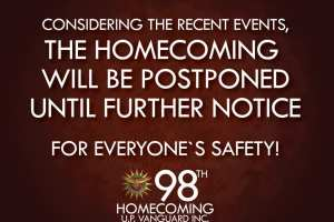 The 98th Homecoming and Convention is Postponed