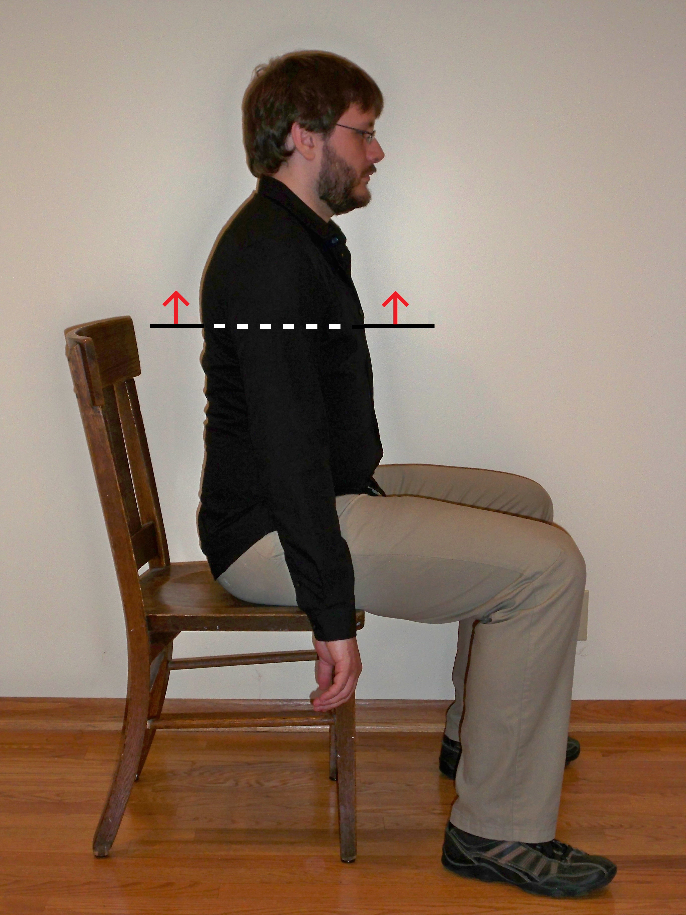 Man sitting in chair side - Lifting