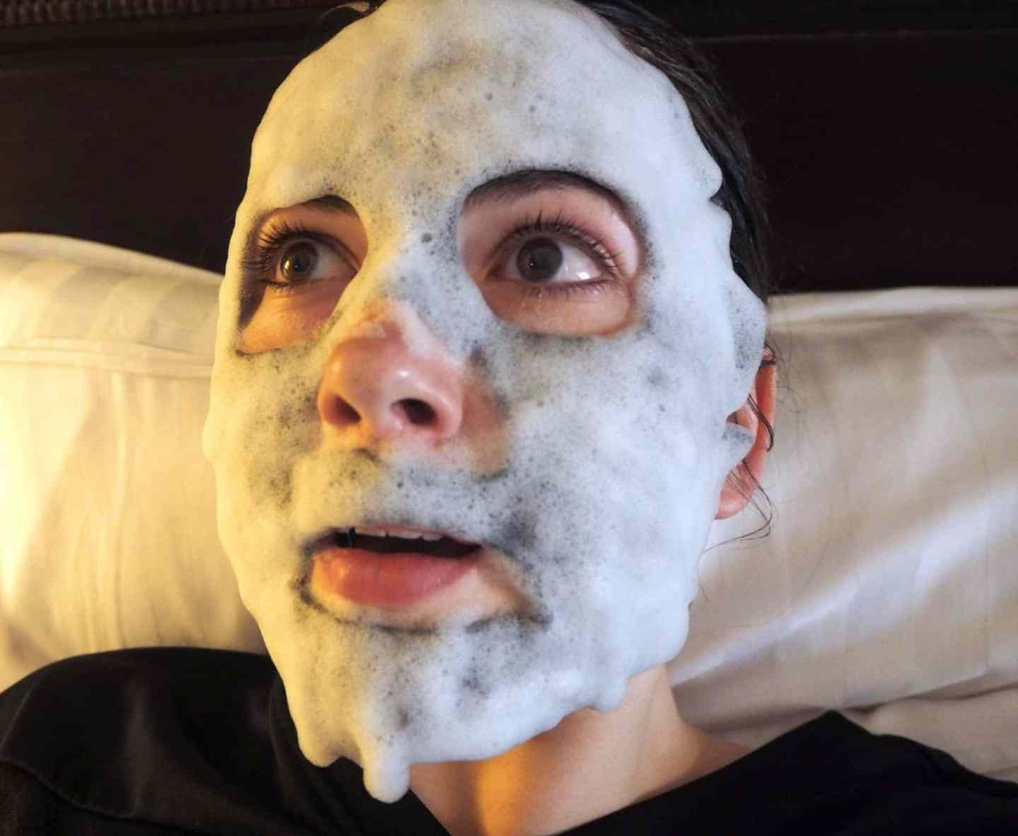 Bubble Mask on face