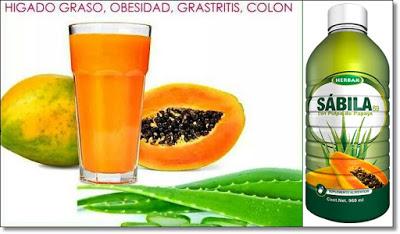 sabila para adelgazar con papaya