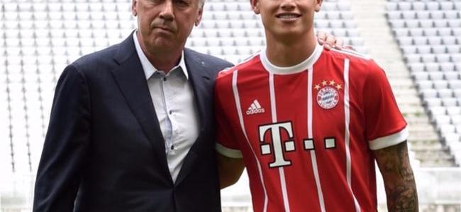 James no tiene garantía de ser titular en Bayern, advierte Ancelotti
