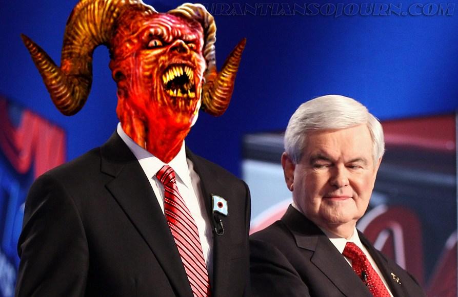 Satan with Newton