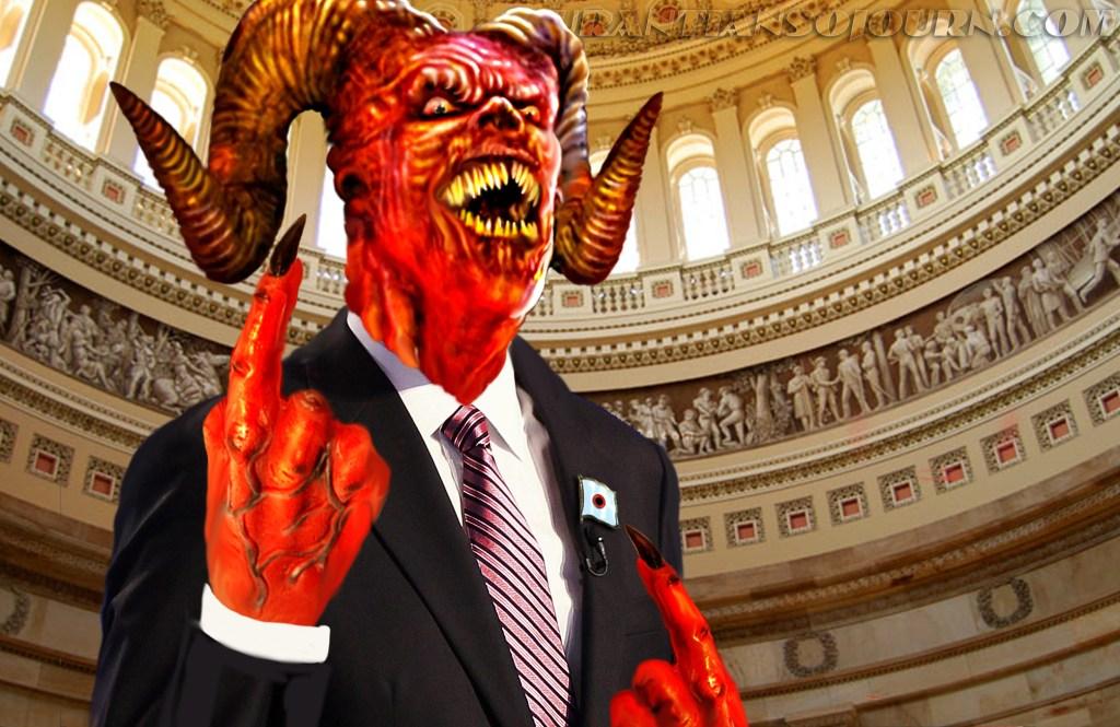 Satan in Capital Rotunda