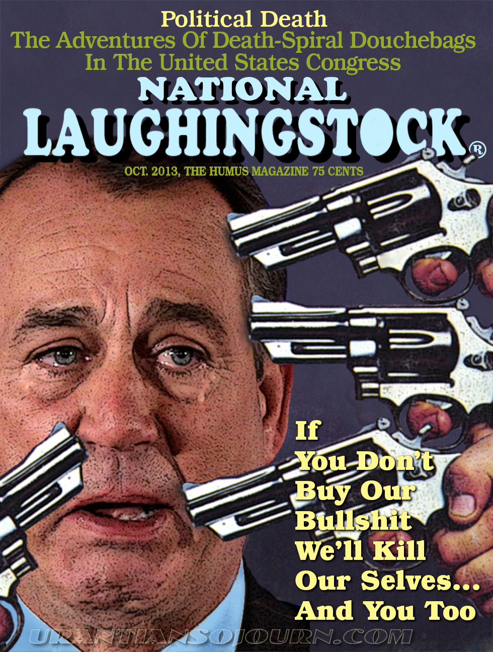 NATIONAL LAUGHINGSTOCK