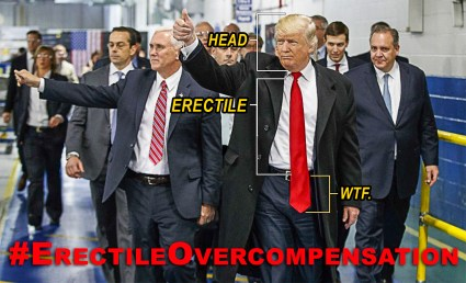 Trump's public display of Erectile Overcompensation