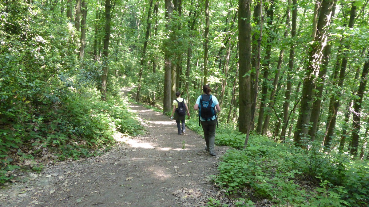 Urban Hiker auf dem Bergbauwanderweg im Muttental