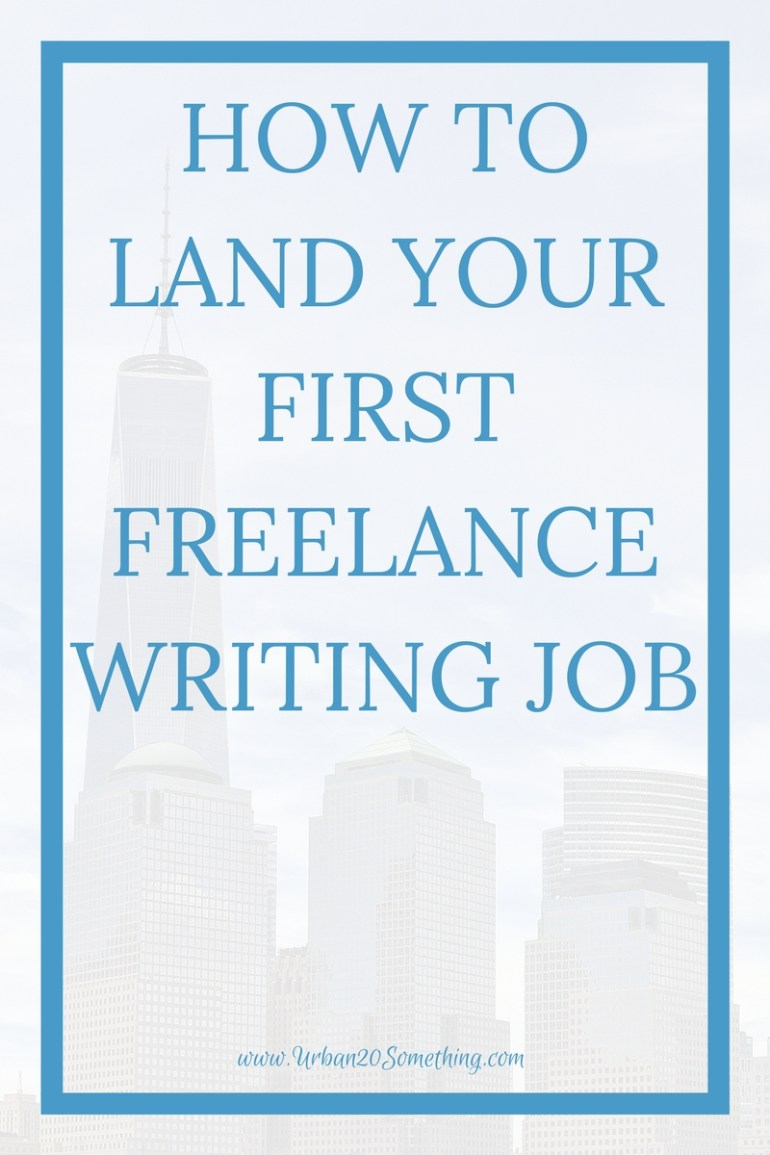 Freelance writing, or freelancinging of any kind, is a great way to make extra money all while from your laptop! Click through to learn how to get your first freelance job.