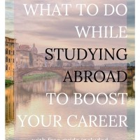 Studying abroad is such a powerful, exciting time in our lives! I can't recommend it enough. Though it's a lot of fun, it can also be a huge boost to your career if you're strategic about it. Click through to learn just what you can do during your time abroad. Free guide and worksheets included!