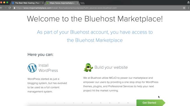 Bluehost website set up tutorial