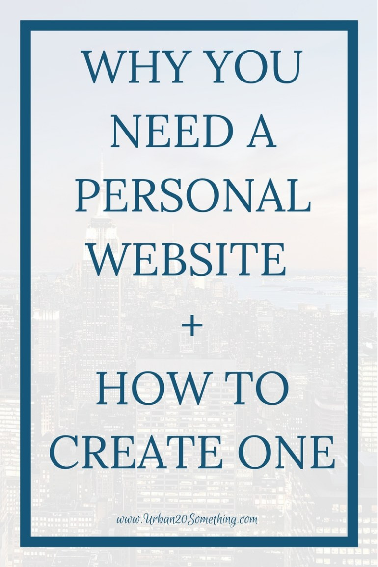 If you're serious about your career, you need a personal website. Click through to learn how to create one.