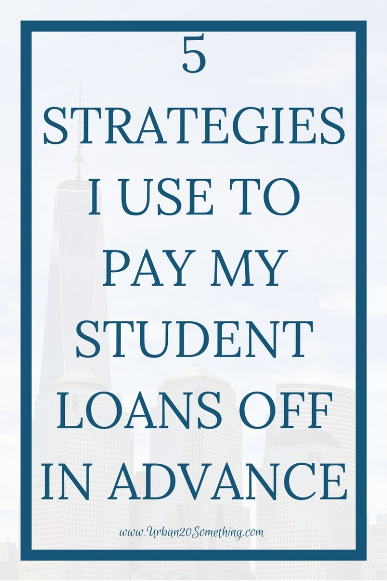 Millennials are in a lot of debt, but there are ways to get out of it at a faster rate. Click through for 5 strategies I use to pay my students loans off in advance every month.