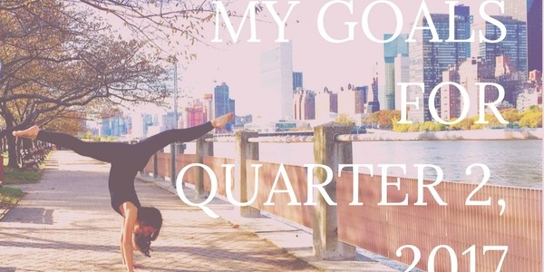 I set goals for myself quarterly. Click through to read my goals for quarter 2 of 2017, learn how I did on my goals for quarter 1, and let me know yours, too!