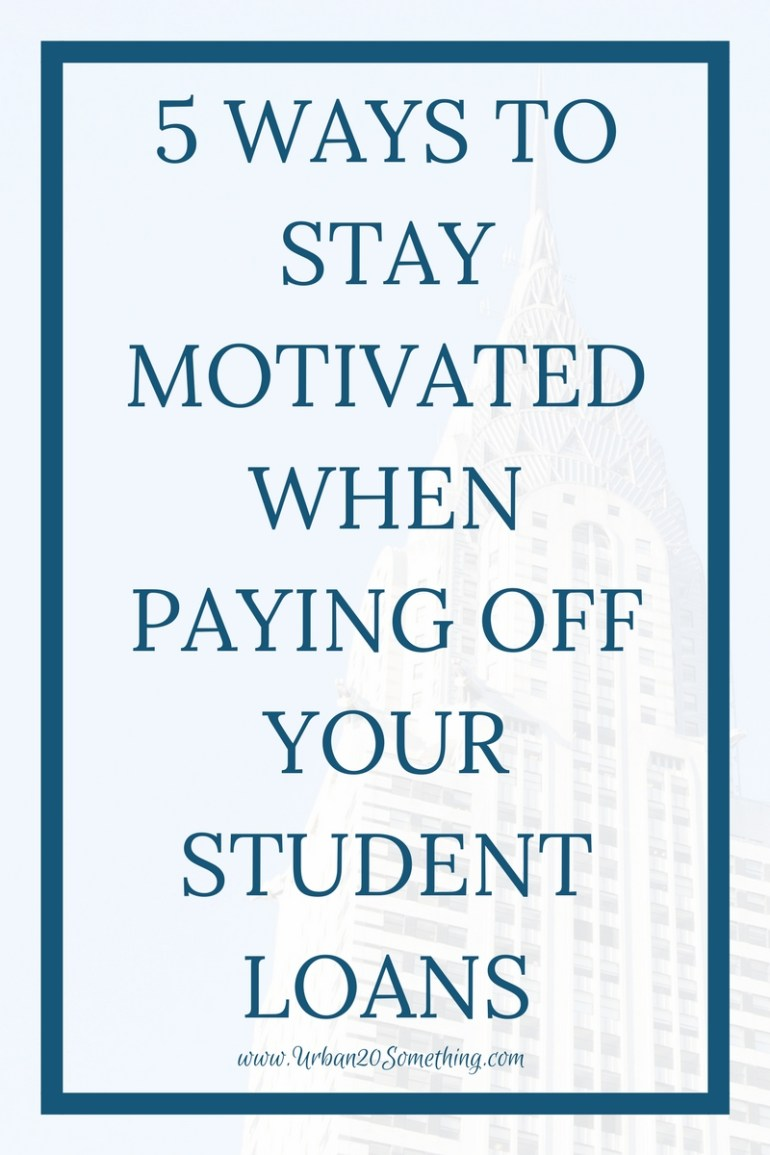 Paying back student loans can be a long, lonely road. Keeping up motivation is key to reaching those big goals. Click through for my 5 favorite ways to stay motivated.