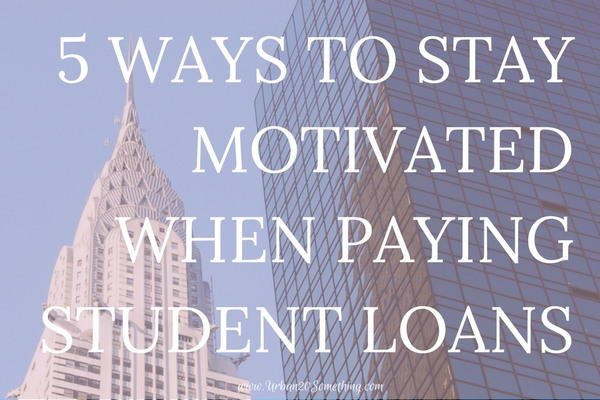 It can be difficult to stay motivated when paying back student debt. Click through for 5 surefire ways to stay motivated when paying back student loans.