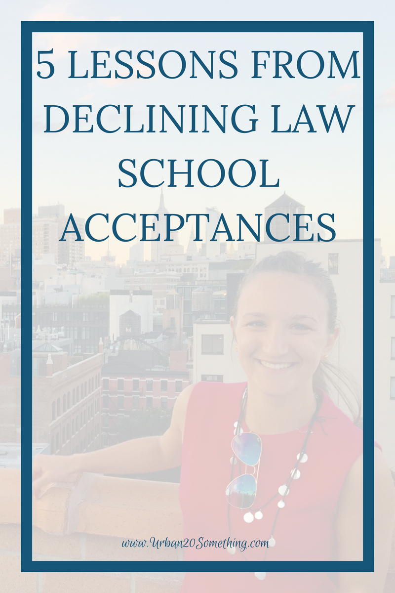 Declining law school was one of the scarier decisions of my life, but also one of the best. Click through to learn how and why I declined law school.