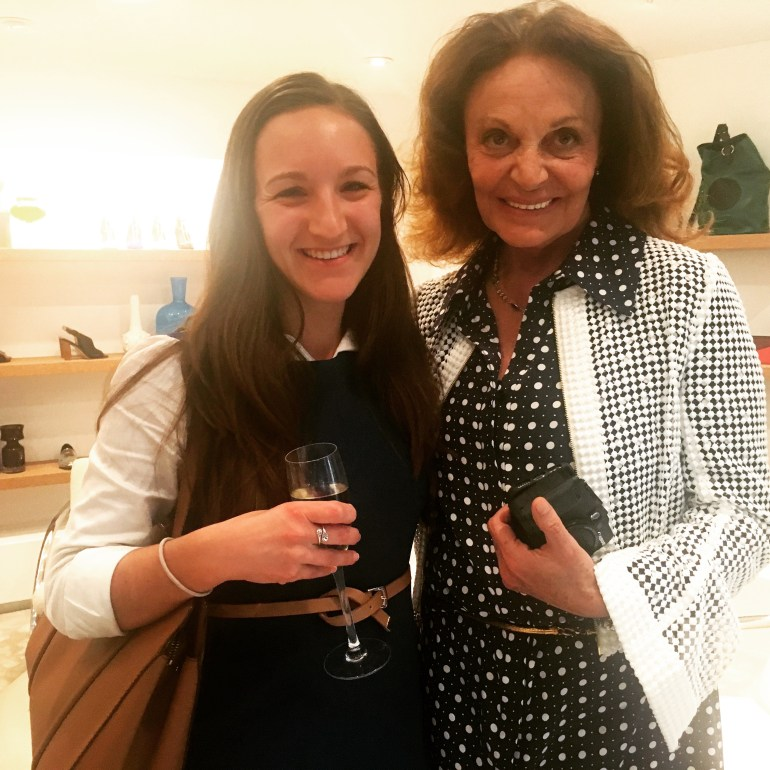 I met Diane Von Furstenberg thanks to my side hustle, Urban 20 Something!