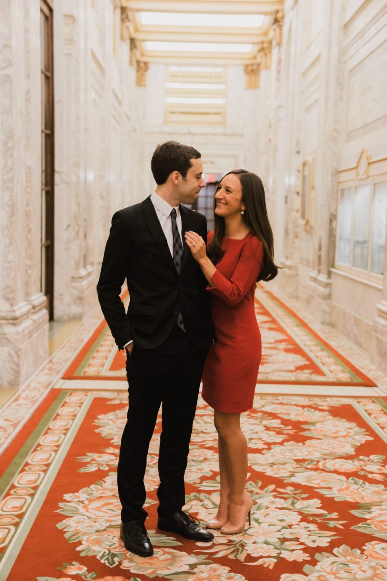 Engagement Photoshoot at the Plaza Hotel with Leah Gervais and Adam Pascarella