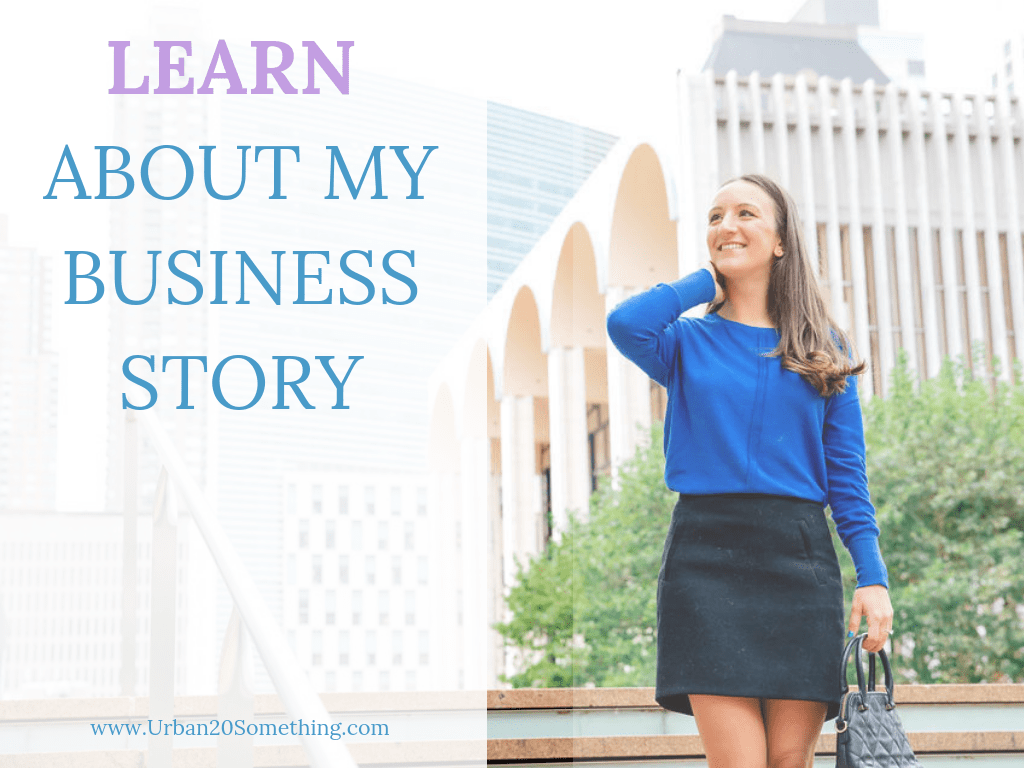 Learn about the start and development of Urban 20 Something and how it grew from a side hustle to a full-time business