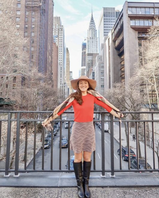 New York City Blogger and Entrepreneur in Tudor City, New York City