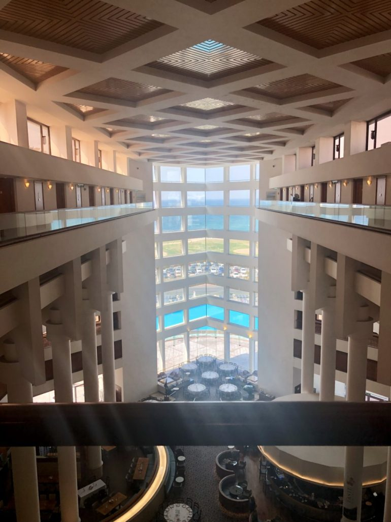 From the inside of the Intercontinental Tel Aviv