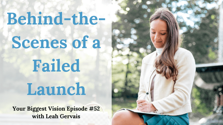 Tune in to this weeks episode to hear the behind the scene's of a failed launch and how Leah turned it into a lesson to succeed in the future.