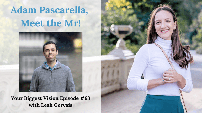 Tune in to episode 63 to meet Leah's fiancé, Adam Pascarella, and to hear behind the scenes of a New York Wedding and the details wedding planning.