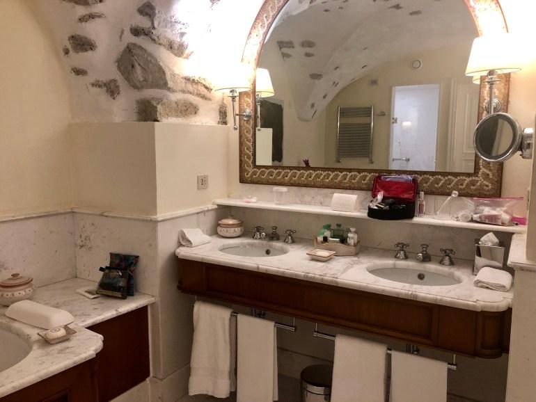 Bathroom at Belmond Hotel Caruso