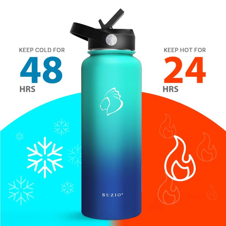 40z Water Bottle by Buzio- perfect for any busy entrepreneur to stay hydrated and increase productivity!