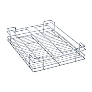Glass Basket (4″ Height X 17″ Width X 20″ Depth) 5mm wire Stainless Steel