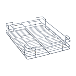 Glass Drawer Basket (4″ Height X 12″ Width X 20″ Depth) 5mm wire Stainless Steel