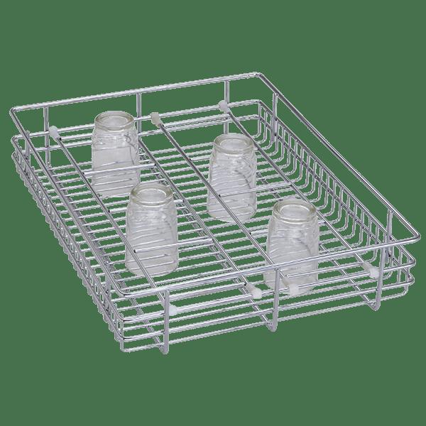 Glass Basket (4″ Height X 15″ Width X 20″ Depth) Stainless Steel