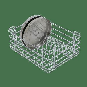 Stainless Steel Thali Basket (8″ Height X 15″ Width X 20″ Depth)