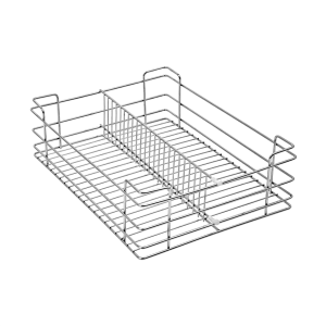 Partition Basket (8″ Height X 21″ Width X 20″ Depth) 5mm wire Stainless Steel
