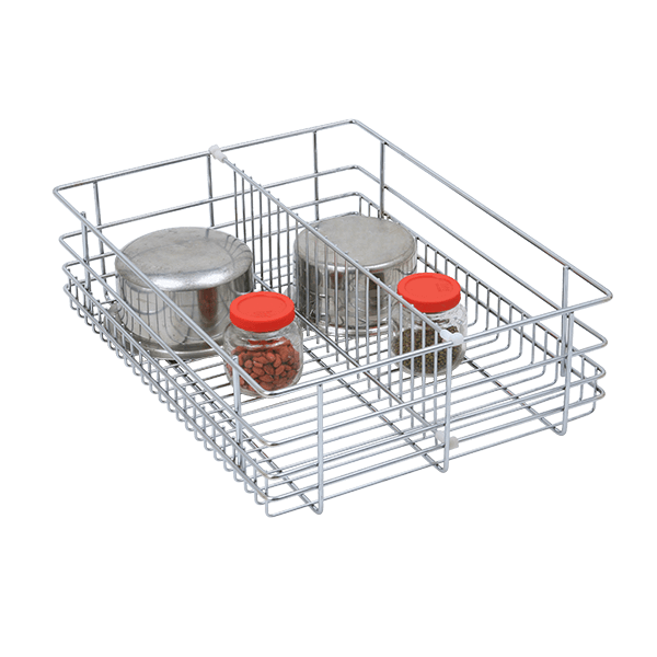 Partition Drawer Basket (8″ Height X 19″ Width X 20″ Depth) 6mm wire Stainless Steel