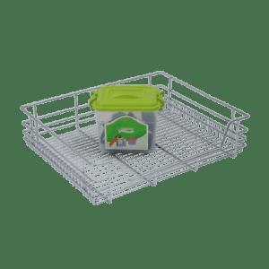 CUPBOARD BASKET (4″ HEIGHT X 21″ WIDTH X 20″ DEPTH) STAINLESS STEEL