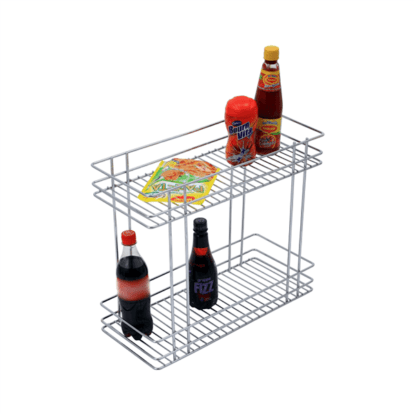 DOUBLE PULL-OUT BASKET (17″ HEIGHT X 12″ WIDTH X 20″ DEPTH) 6MM WIRE STAINLESS STEEL